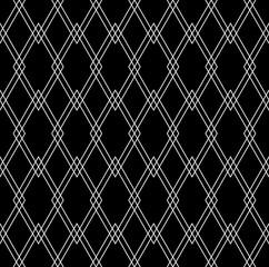 Vector modern seamless geometry pattern diamonds , black and white abstract geometric background,wallpaper print,  monochrome retro texture, hipster fashion design