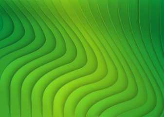 Green Striped 3D Texture - Background Illustration, Vector
