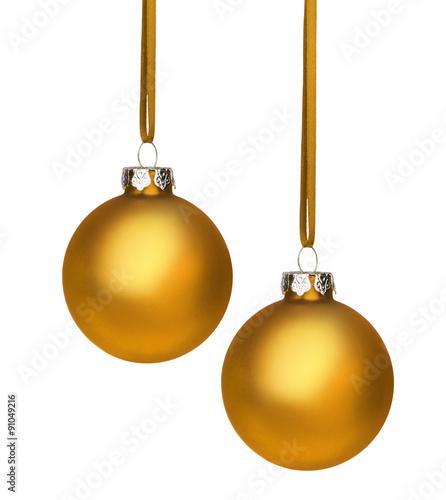 Goldene Weihnachtskugeln.Zwei Goldene Weihnachtskugeln Stock Photo And Royalty Free Images