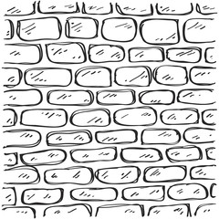 Simple doodle of a brick pattern