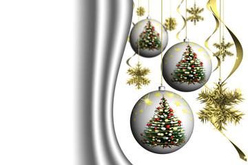 Natale Decorazione 2014017 Natale. Decorazione natalizia con spazio per inserimento di eventuale testo.