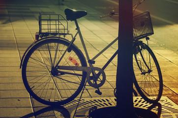 Retro bike on the street