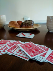 Playing Cards and Bagels