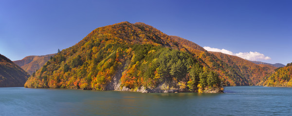 Autumn at Azusa Lake in the Japanese Alps