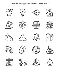 Line icon - Eco Energy and Power icons set, thickness line