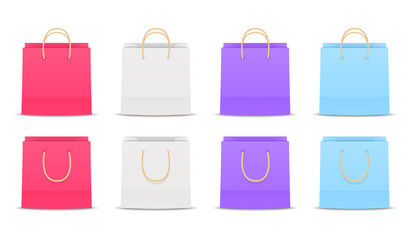 Set of paper shopping bags 3