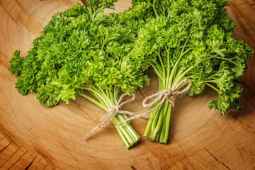 Wall Mural - a bunch of fresh  parsley