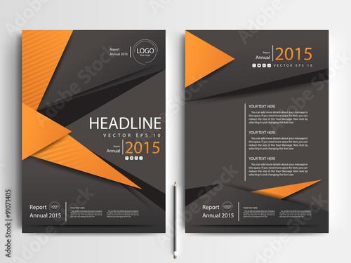 abstract vector modern flyer design brochure design template