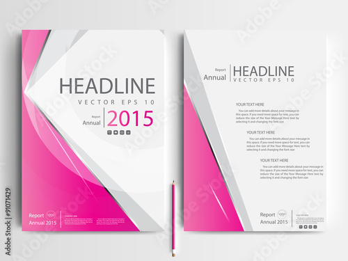 Abstract vector modern flyer design brochure design template – Book Report Cover Page Template