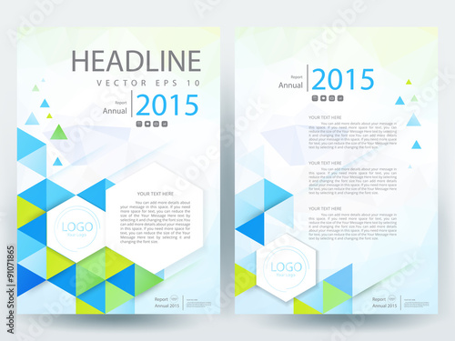 Abstract Vector Modern/ Flyer Design / Brochure Design Template / Annual  Report /book Cover  Annual Report Cover Page Template