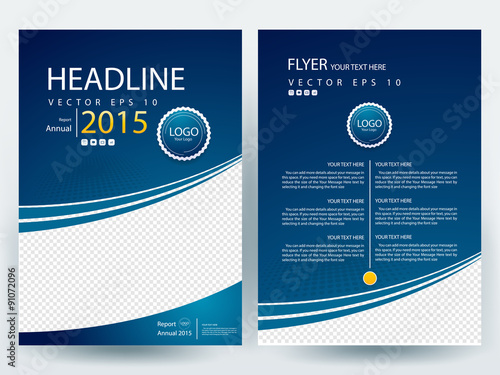 Abstract vector modern flyer design brochure design for Book cover page design templates free download