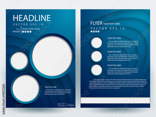 abstract vector modern flyer design brochure design template