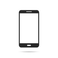 Phone icon in flat design with shadow