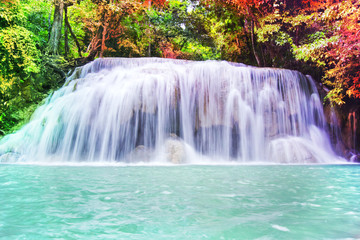 Some part of the seven layer waterfall in Erawan waterfall