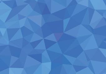Blue White Polygonal Mosaic Background, Vector illustration, Cre