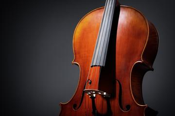 Cello on dark background