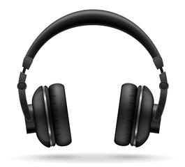 acoustic headphones vector illustration