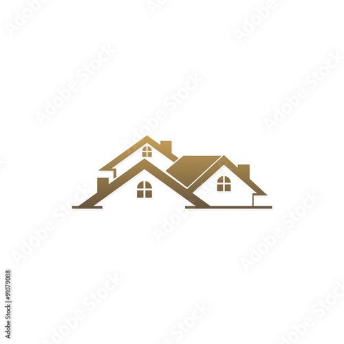 Roof House Construction Model Vector Logo