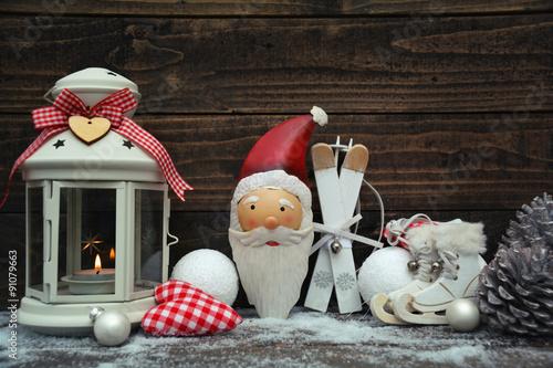 Weihnachtlich dekorieren landhausstil stockfotos und for Weihnachtlich dekorieren