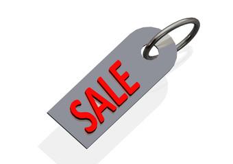Sale tag illustration - consumerism concept