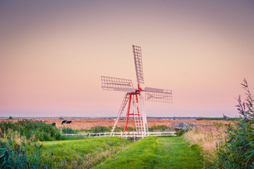 Windmill on a countryside