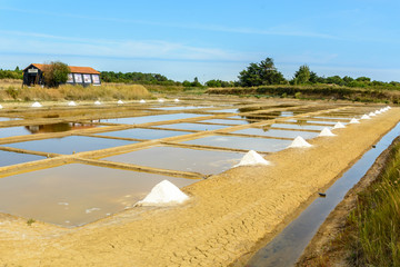 Salt port, Oleron, France