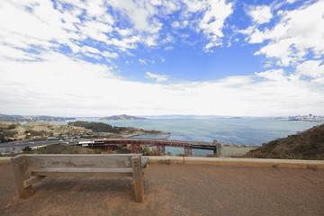 Scene by the Golden Gate Bridge San Francisco CA