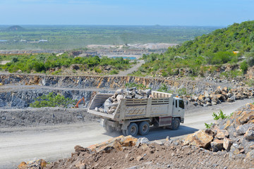 Limestone quarry and transportation
