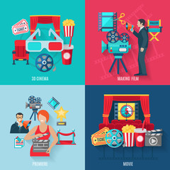 Movie Making Icons Set