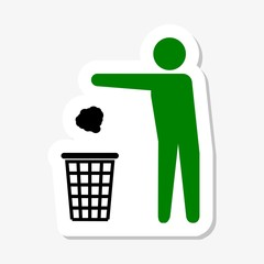 Garbage Recycling Sticker Symbol
