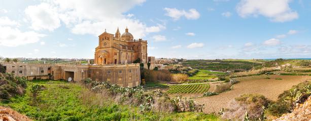 Ta' Pinu Church in village Gharb, Gozo island, Malta.
