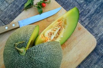 fresh green melon