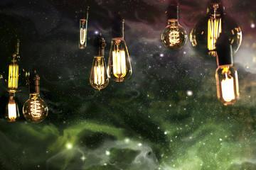 Light bulbs Sky Galaxy