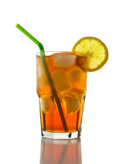 Iced Tea and Lemon, Straw (clipping path)