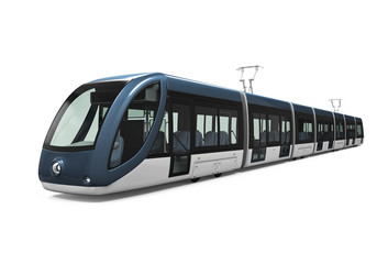 Modern Tram Isolated