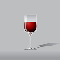 vector red wine illustration