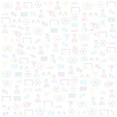 Soccer Icons background, . Illustration vector eps10