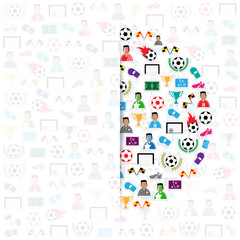 Soccer circle icons background, Illustration vector eps10