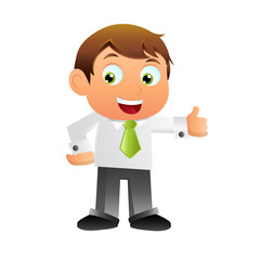 Elegant Business man cartoon character