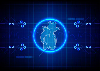 Abstract cardiology technology concept background. illustration