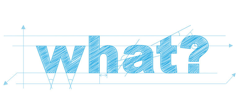 """""""WHAT?"""" Vector Overlapping Letters Icon"""