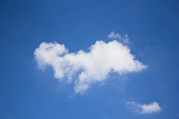 Isolated white cloud on blue sky background