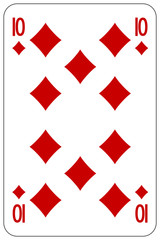 Poker playing card 10 diamond