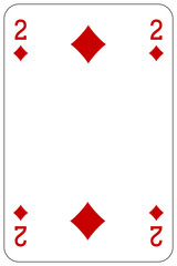 Poker playing card 2 diamond