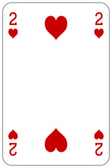 Poker playing card 2 heart
