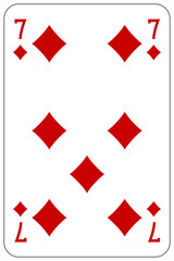 Poker playing card 7 diamond
