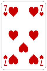 Poker playing card 7 heart