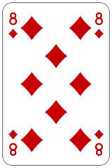 Poker playing card 8 diamond
