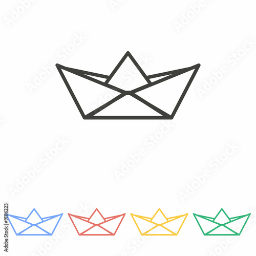 Paper Boat Icon Stock Image And Royalty Free Vector Files On