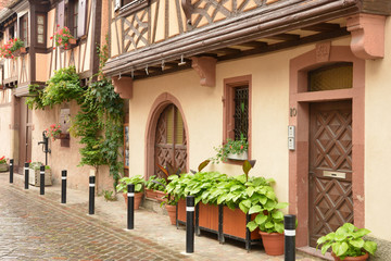 bas rhin, the picturesque city of  Obernai in alsace